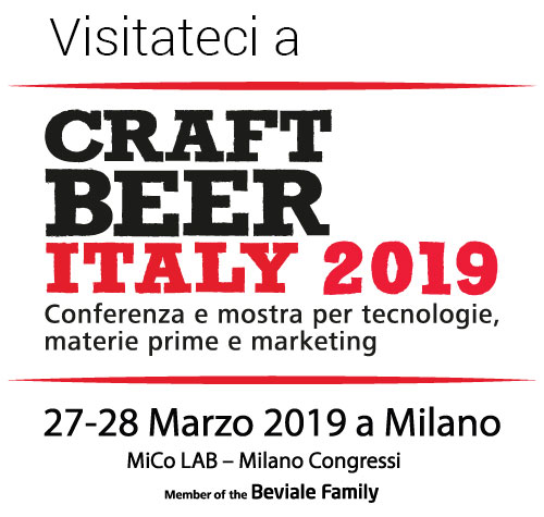 Visitateci al CRAFT BEER ITALY 2019 di Milano